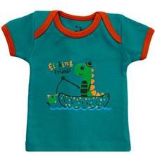 تی شرت آستین کوتاه نوزادی آدمک مدل Dinosaur