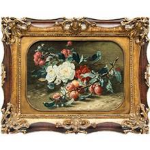تابلو فرش گالری سی پرشیا طرح گل و گیلاس کد 901128