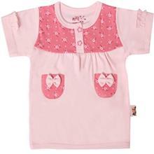 تي شرت آستين کوتاه نوزادي نيلي مدل Two pockets