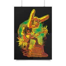 پوستر ونسونی طرح Rock On Hand Horns سایز 30x40