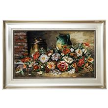 تابلو فرش گالري مثالين طرح طاقچه و گل کد 25075