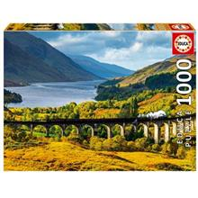 پازل 1000 تکه ادوکا مدل Glenfinnan Viaduct, Scotland