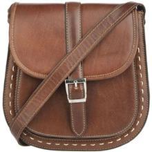کیف دوشی چرم طبیعی گالری ماندگار مدل سرخپوستی