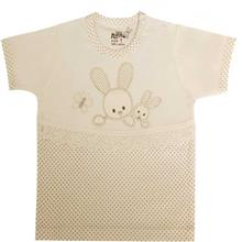 تي شرت آستين کوتاه نوزادي نيلي مدل Rabbit