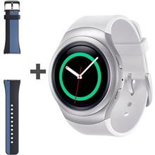 Samsung Gear S2 R720 White SmartWatch with Samsung Rubber Band