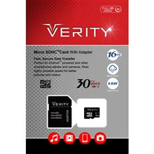 Memory Cards VERITY C10 Class 10 30MB/S microSDHC With Adapter - 16GB