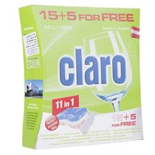 Claro 11in1 Dishwasher Tablets Pack Of 20