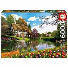 Educa Lakeside Cottage At Spring 6000 Pcs Puzzle