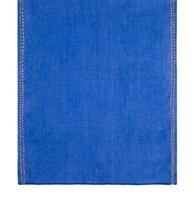 شال کتان حاشیه دار برند Mulberry آبی