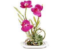 گل مصنوعی ارکیده با گلدان مدل 14073