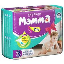 پوشک ماما سايز متوسط بسته 14 عددي