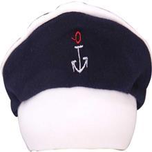 کلاه نوزادي نيلي مدل Anchor