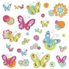 استیکر رومیت مدل Brush Work Butterfly Wall Decl