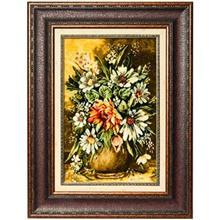 تابلو فرش گالری سی پرشیا طرح گلدان گل کد 901113