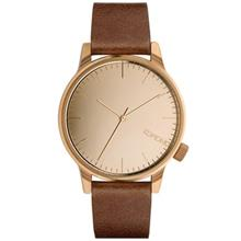 Komono Winston Mirror Rose Gold Cognac Watch