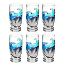 Anar Gallery Paisley Glass Set Pack of 6