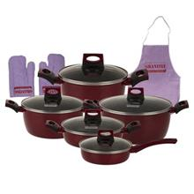 Bogatti Granitee Cookware Set 13 Pieces
