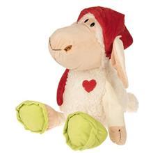 عروسک مدل Sheep With Red Nightcap Png ارتفاع 55 سانتي متر