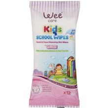 Wee Kids Girls Hand And Face Cleansing Wet Wipes 12pcs