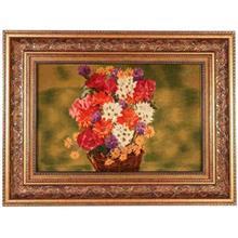 تابلو فرش گل ابريشم گالري مثالين طرح سبد رنگ روغن کد 25012