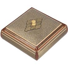 جعبه خاتم اثر کروبي مدل مربعي طرح 3 سايز بزرگ