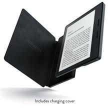 Amazon New - Kindle Oasis E-reader with Leather Charging Black Cover