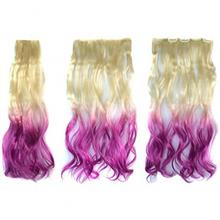 ABWIN Beige to Violet Hair Extension for Woman