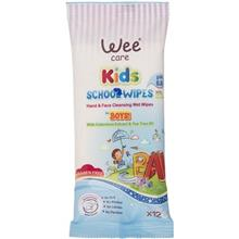 Wee Kids Boys Hand And Face Cleansing Wet Wipes 12pcs