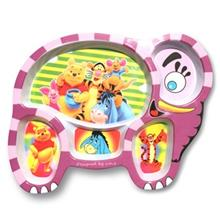 Blue Baby Pooh Baby Divided Plate
